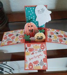Box card halloween