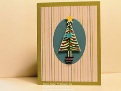 Card 215 all is calm christmas tree