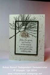 Card 243 ornamental pines 2 layer stamping tall