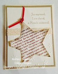 Christmas story star card