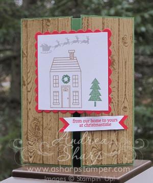 Christmas house gatefold