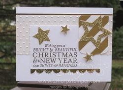 Glittery starry christmas