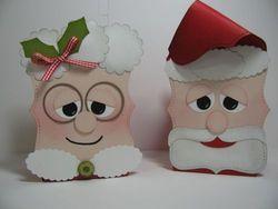 Stampin' up! top note santa