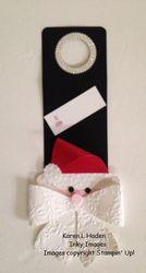 Santa wine bottle tag