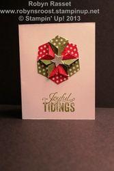 Card 30 hexagon punch christmastidings portrait