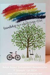 Card 260b sheltering tree rainbow tall