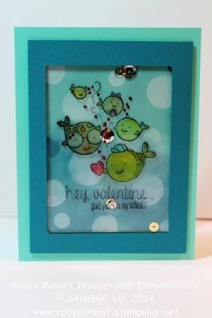 Card 263 hey valentine shaker