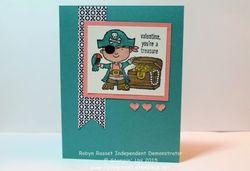 Card 271 hey valentine you're a treasure