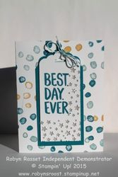 Card 267 best day ever sparkle stars tall