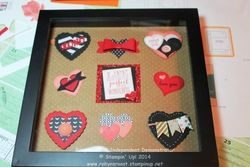 Hearts sampler framed