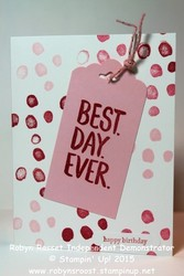 Card 278 best day ever in pink tall