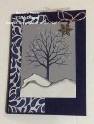 Sheltering tree winter card