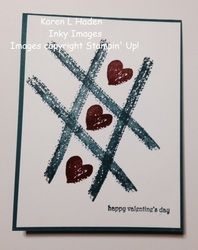 Valentine work of art card