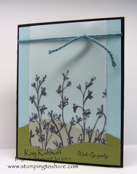 44 sheer perfection vellum on a sympathy card