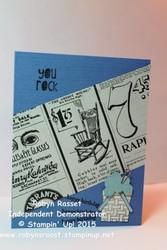 Card 310 you rock birthday tall