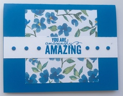 Blue floral amazingly amazing card