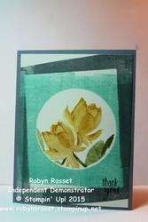 Card 313 lotus blossom snapshot brayer masking tall