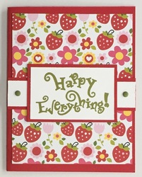 Strawberry happy everything card