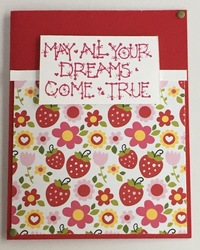 May all your dreams come true strawberry card