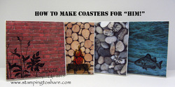 54 making coasters with adventure bound and stamped masculine images
