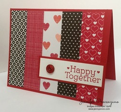Happy together paper scraps card