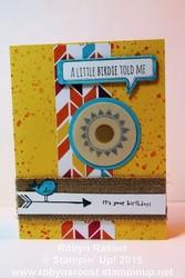 Card 336 hello love birthday tall