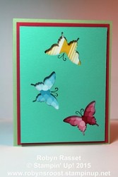 Card 339 elegant butterfly tall