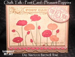 Poppie grateful postcard