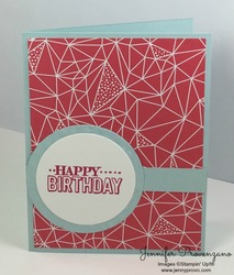 Pink light blue geometric birthday