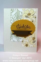 Card 347 sassy thank you tall