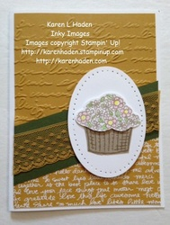 Basket of flowers card