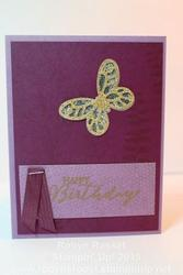 Card 371 butterfly basics birthday tall