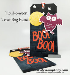 Brick wall halloween tag