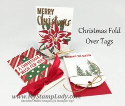 Fold over tags christmas