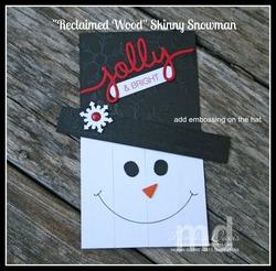 Reclaimed wood snowman2 e