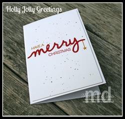 Merry glitter splatter e