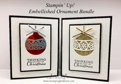 163a embellished ornaments bundle
