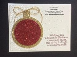 Glittery ornament card