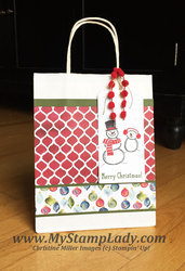 Snow place gift bag