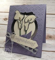 Green wedding card