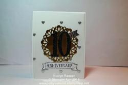 Card 413 big numbers anniversary