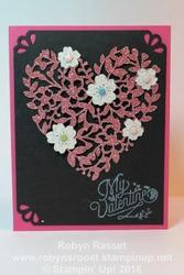 Card 419b bloomin  heart tall
