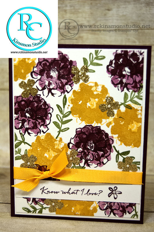 Know what i love flowers card 2