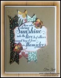 Serene stamper botanical sunshine card