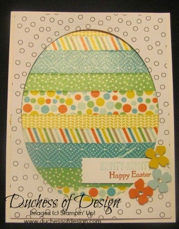 Washi easter egg card
