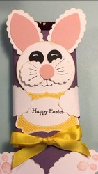 Easter bunny hershey bar wrapper close up