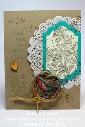 Card 448 an open heart tall