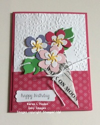 Bouquet of flowers card