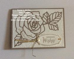 Rose wonder embossed wedding card