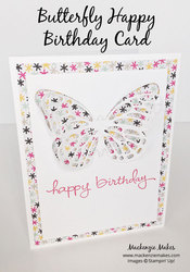 Butterfly bday card